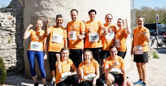 25 Läuferinnen und Läufer der SBH-Gruppe bestritten den Osterlauf 2019